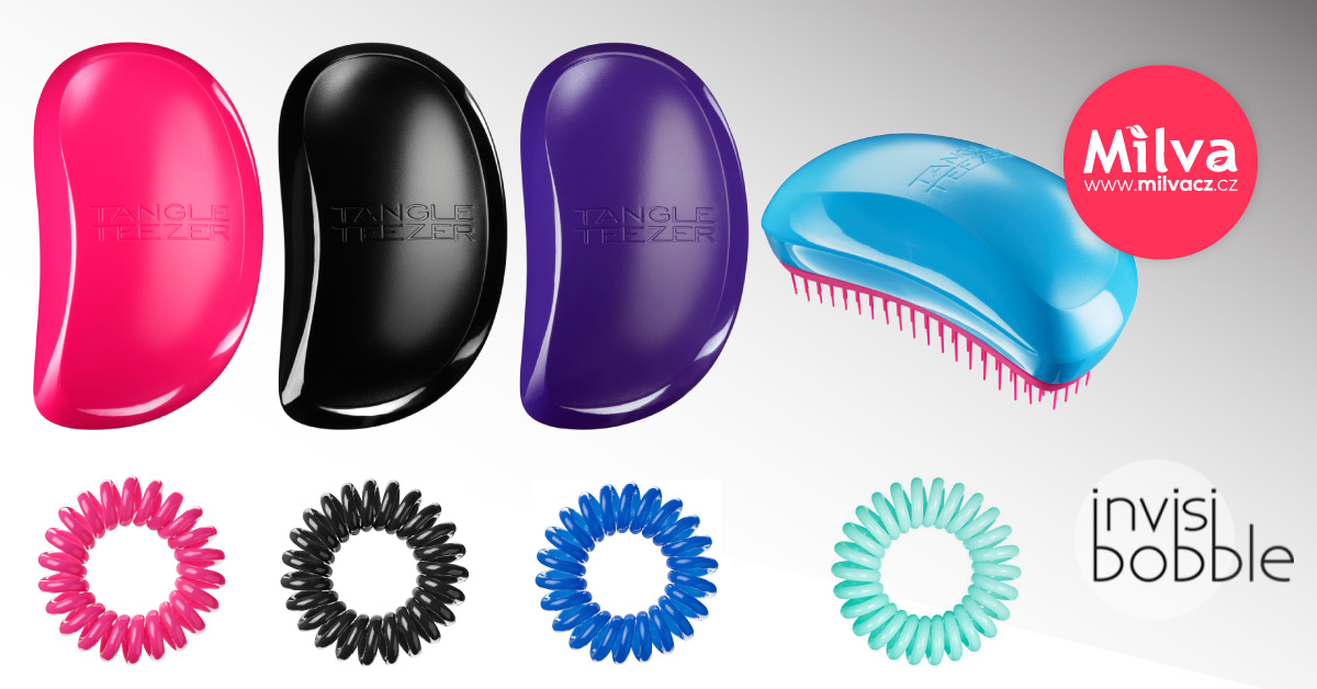 Tangle Teezer a Invisibobble na MilvaCZ.cz